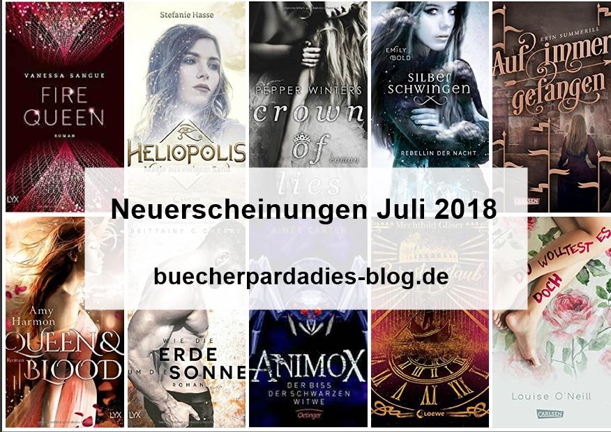 Buchneuerscheinungen Juli 2018 – Teil 1 – Carlsen-,LYX, Loewe-,Thienemann-, und Oetingerverlag