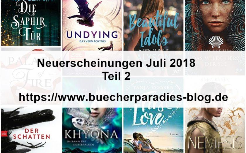 Neuerscheinungen Juli 2018 – Teil 2  von 2