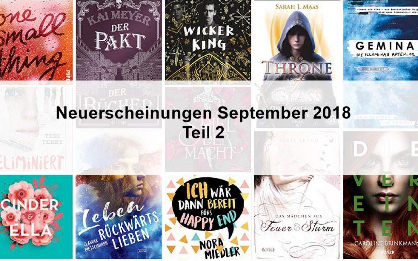Neuerscheinungen September 2018 Teil 2
