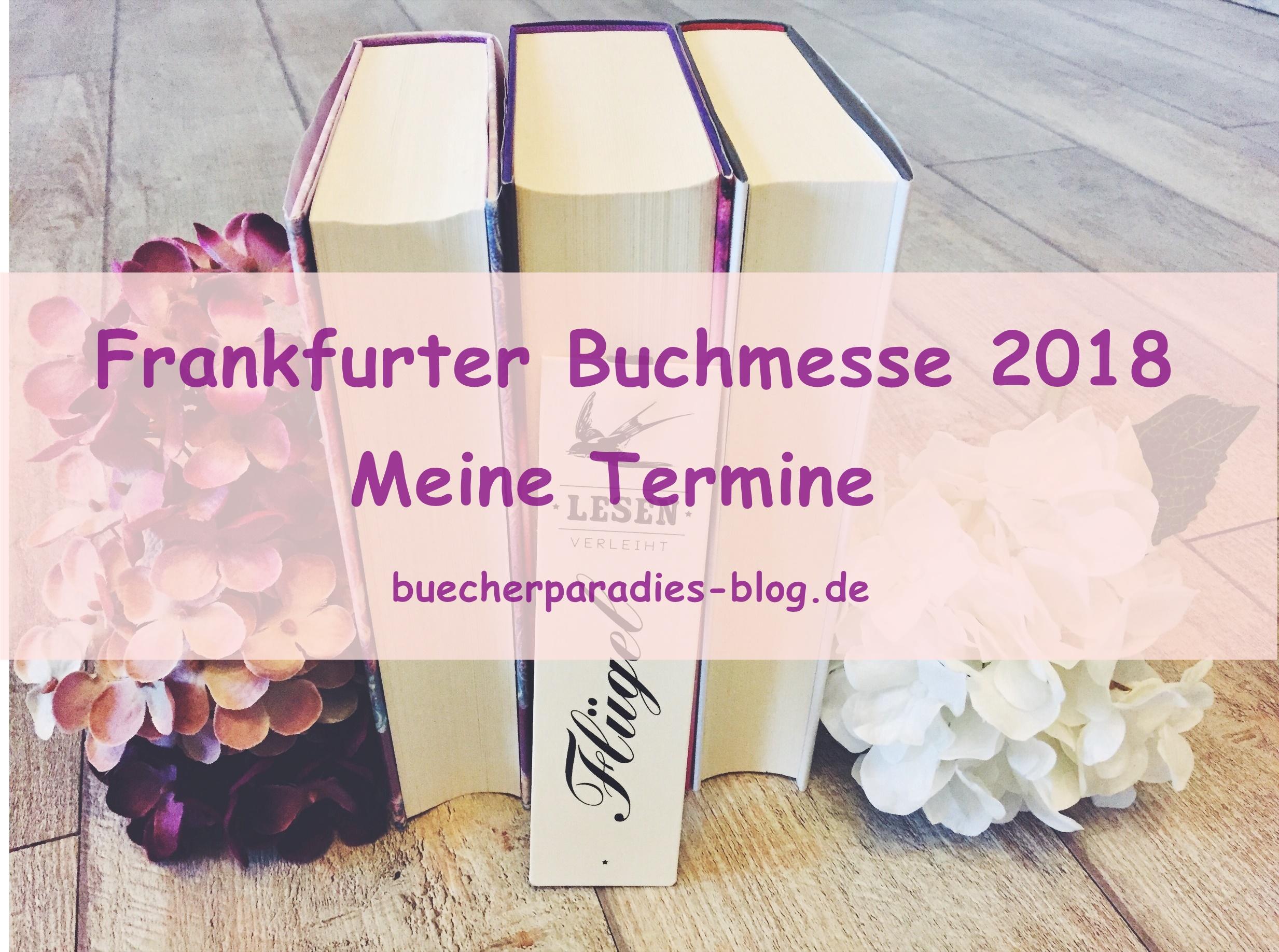 Frankfurter Buchmesse  2018 – Meine Termine